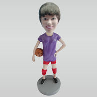 Custom female basketball bobbleheads