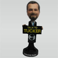 Custom man bobble head