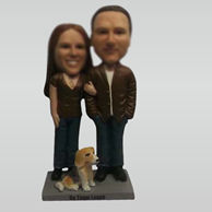 Customize couple bobble heads