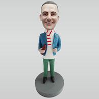 Personalized custom Scarf man bobbleheads