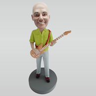 Custom man with guitar bobble heads