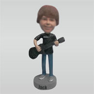 Custom guitar bobbleheads