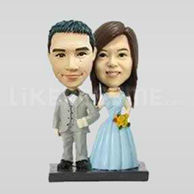 Custom wedding topper figurine-10519