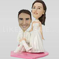 Wedding cake toppers bobbleheads-10529