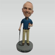 Custom golf bobble head doll