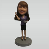 Custom Woman on the phone bobble heads doll