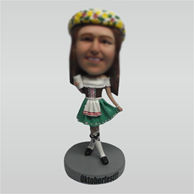 Custom dress girl bobble heads