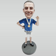 Personalized custom Running Champion bobbleheads