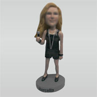Personalized Custom fashion female bobbleheads doll