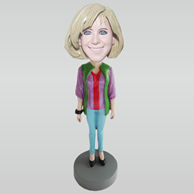 Custom fashion girl bobble heads
