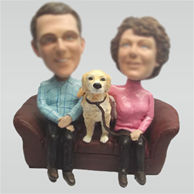 Customize couple bobblehead doll
