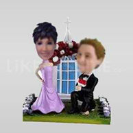 Customized wedding cake toppers-10621