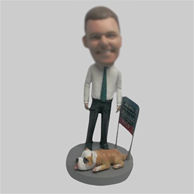 Custom work bobbleheads in office man bobblehead