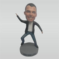 Custom happy man bobbleheads