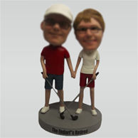 Custom golf couple bobbleheads