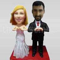 Unusual wedding cake topper-10645