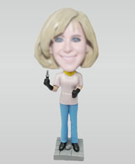 Custom Mom and pliers bobbleheads