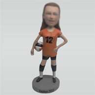 Custom sport woman bobbleheads