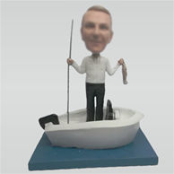 Custom fishing bobbleheads