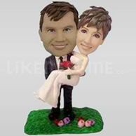 Bobblehead wedding cake toppers-10672