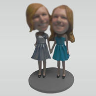 Custom best friends bobbleheads