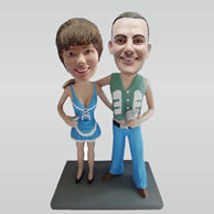 Personalized custom couple bobblehead doll