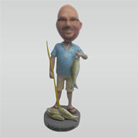 Custom man and fish bobbleheads