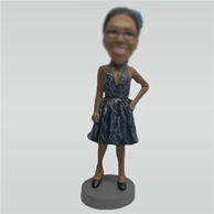 Custom Fashion Lady bobble heads