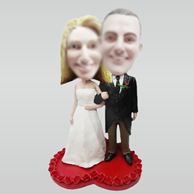 Personalized custom wedding bobble head
