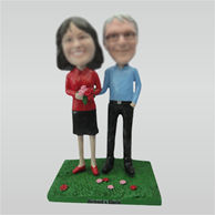 Custom Dad and Mom bobble heads