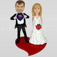 Wedding cake topper bobblehead-10701