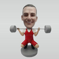 Custom Weightlifting Male bobbleheads