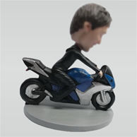Custom man and Motorcycle bobble heads