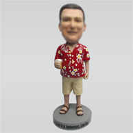 Customize Leisure man bobblehead doll