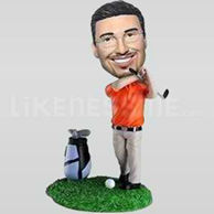 Custom Bobblehead Golf man 2-10766