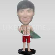 Custom  Male  Bobblehead Surfboard-10768