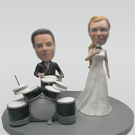Custom music wedding bobbleheads