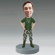 Personalized custom Soldier bobbleheads