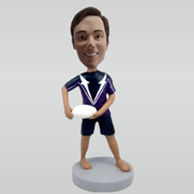 Personalized custom male Rugby bobbleheads