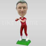Custom Bobblehead Man Throwing Football-10798