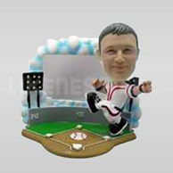 Custom Bobblehead Baseball Second Base-10803