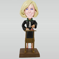 Personalized custom teacher bobble heads