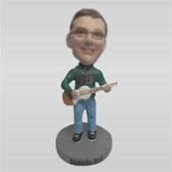 Personalized Custom man and bass bobbleheads