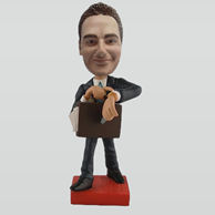 Personalized custom busy man bobbleheads