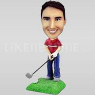 Custom Bobblehead Golf Man Chipping-10809