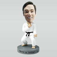 Personalized custom Taekwondo bobble heads