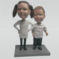 Custom sister and brother bobbleheads