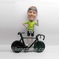 Personalized custom Racing cyclist bobbleheads