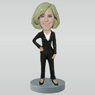 Custom Black heeled bobbleheads