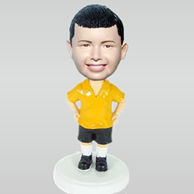 Custom yellow tshirt boy bobbleheads